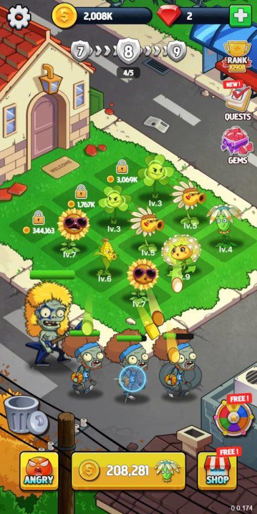 دانلود Merge Flowers vs. Zombies 2.9 - بازی شبیه سازی جالب