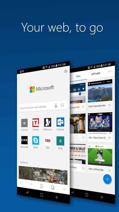 دانلود Microsoft Edge Preview 42.0.0.2835 - مرورگر مایکروسافت اج اندروید + بتا