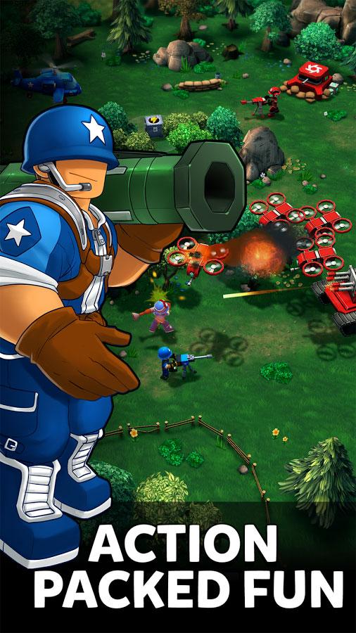 دانلود Mini Guns 1.0.30 - بازی استراتژی ارتش فسقلی ها اندروید + دیتا