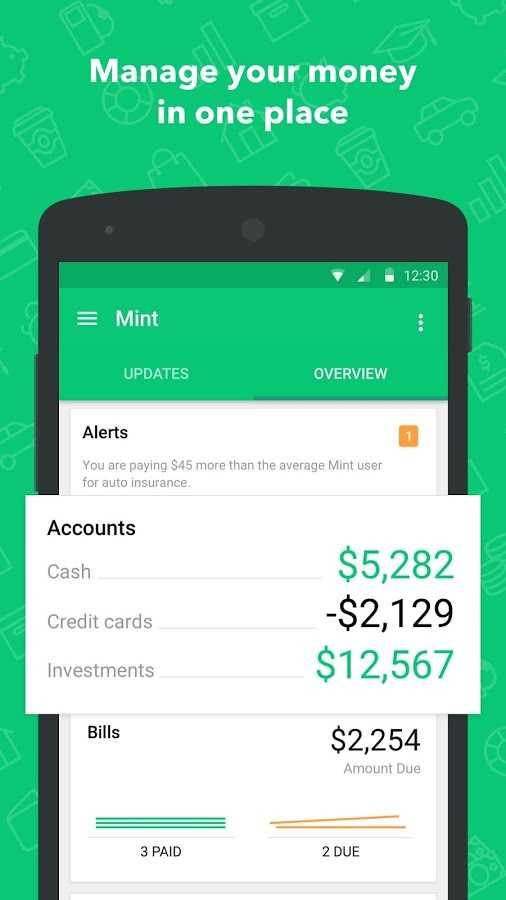 دانلود Mint: Budget, Bills, Finance 5.47.0 - مدیریت آسان امور مالی اندروید