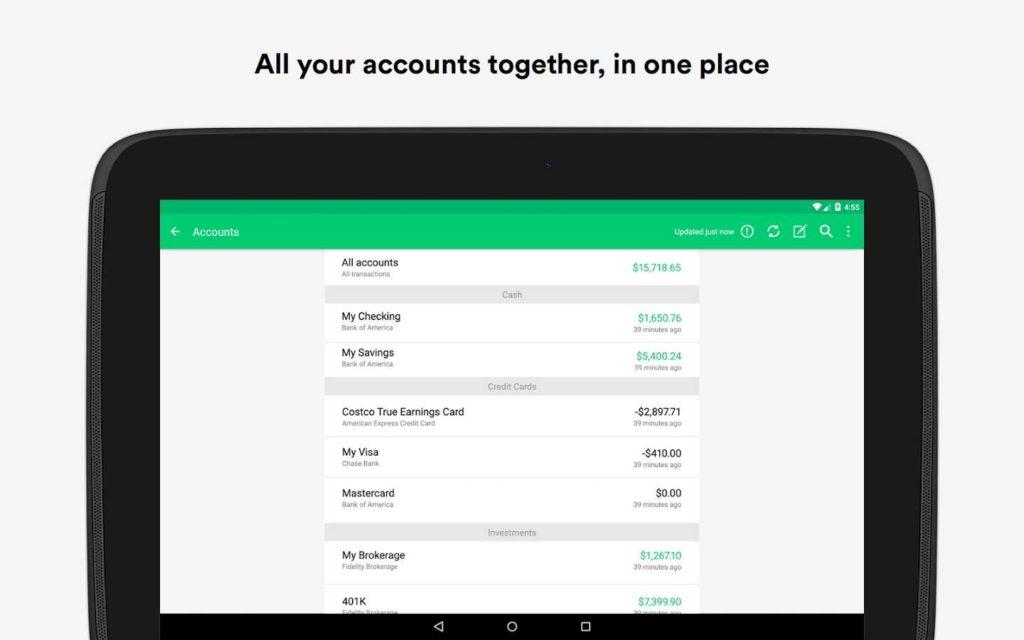 دانلود Mint: Budget, Bills, Finance 6.1.0 - مدیریت آسان امور مالی اندروید