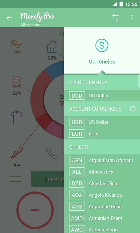 دانلود Monefy Pro - Money Manager 1.9.1 b115 - پیگیری و مدیریت هزینه اندروید