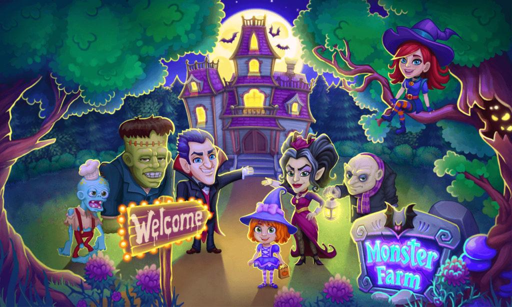 دانلود Monster Farm: Happy Ghost Village & Witch Mansion 1.28 - بازی کژوال جالب و سرگرم کننده