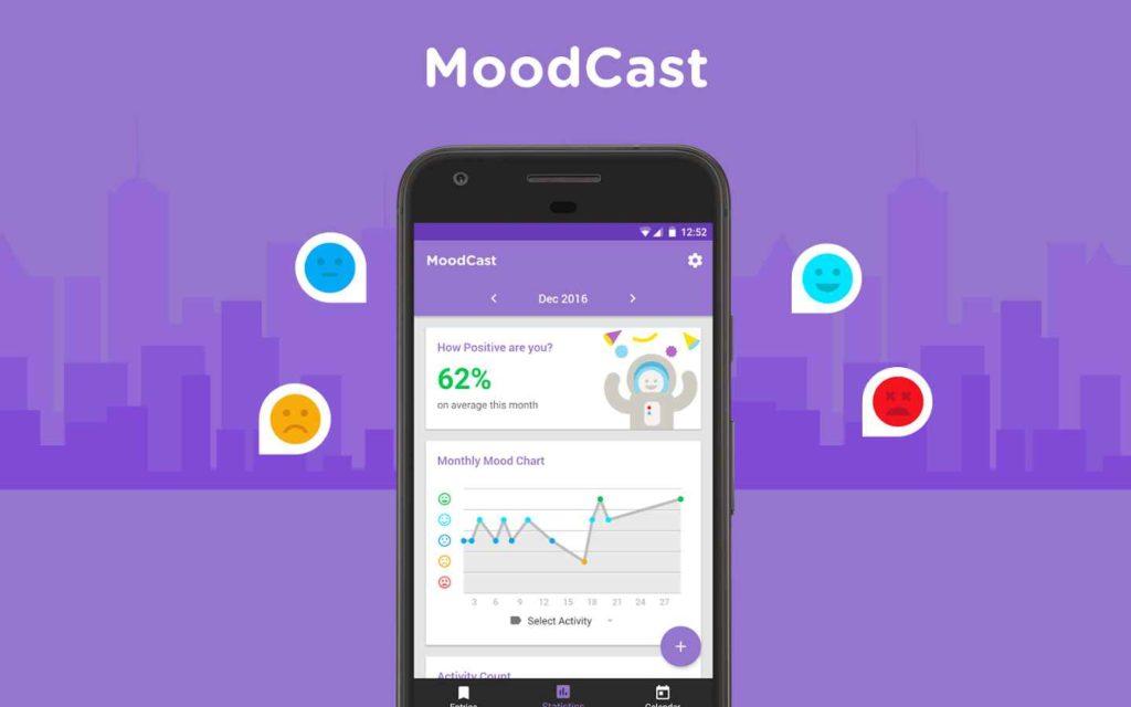 دانلود MoodCast Diary - Mood Tracker Full 1.0.22 - برنامه پیگیری اخلاق و عادات روزانه اندروید