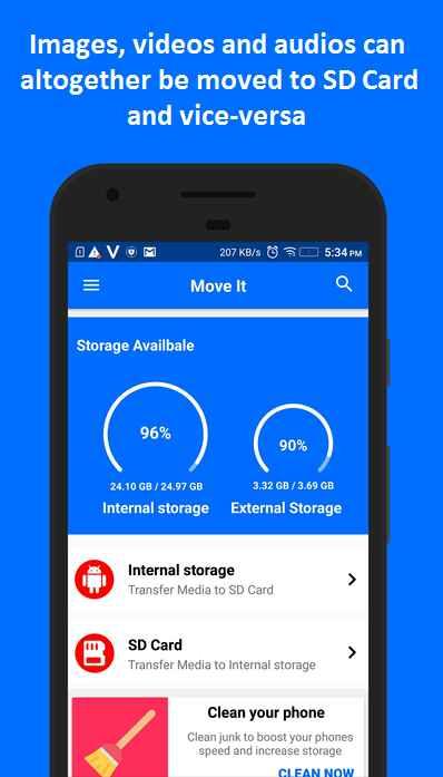 دانلود MoveIt: Move Media to SD Card Full 0302r - برنامه انتقال آسان فایل ها به اس دی کارت اندروید