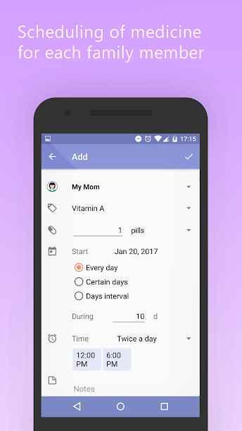 دانلود Mr. Pillster pill & medicine reminder alarm app Pro 2.1.6.1 - برنامه یادآور ساده مصرف دارو اندروید !