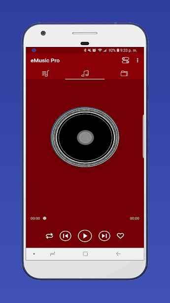 دانلود Music Player; eMusic PRO mp3 player 1.1.1 - برنامه موزیک پلیر ساده و با کیفیت اندروید !