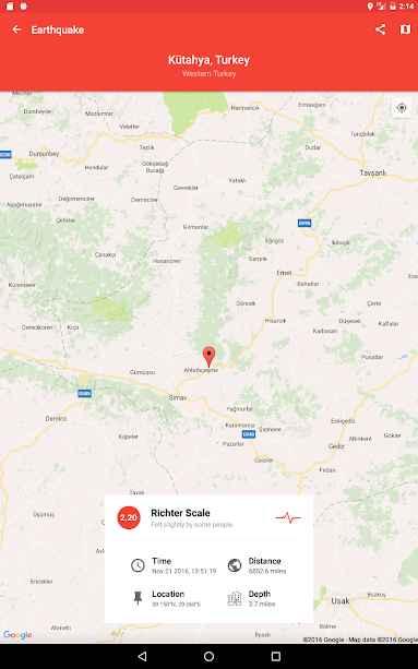 دانلود My Earthquake Alerts Pro - Quake Map & Feed 2.1.1 - برنامه هشدار و اطلاعات زلزله مخصوص اندروید