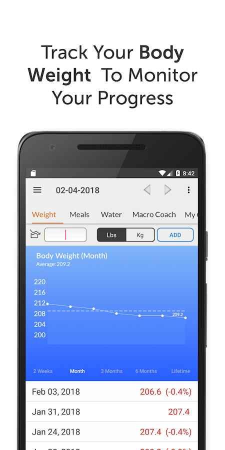 دانلود My Macros+ 8.8 - ردیاب و کنترل رژیم غذایی مخصوص اندروید!