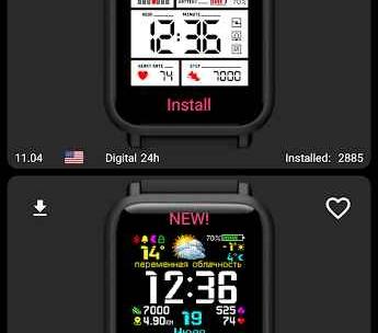 My WatchFace for Amazfit Bip