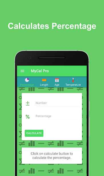 MyCal Pro - Percentage & General Calculator