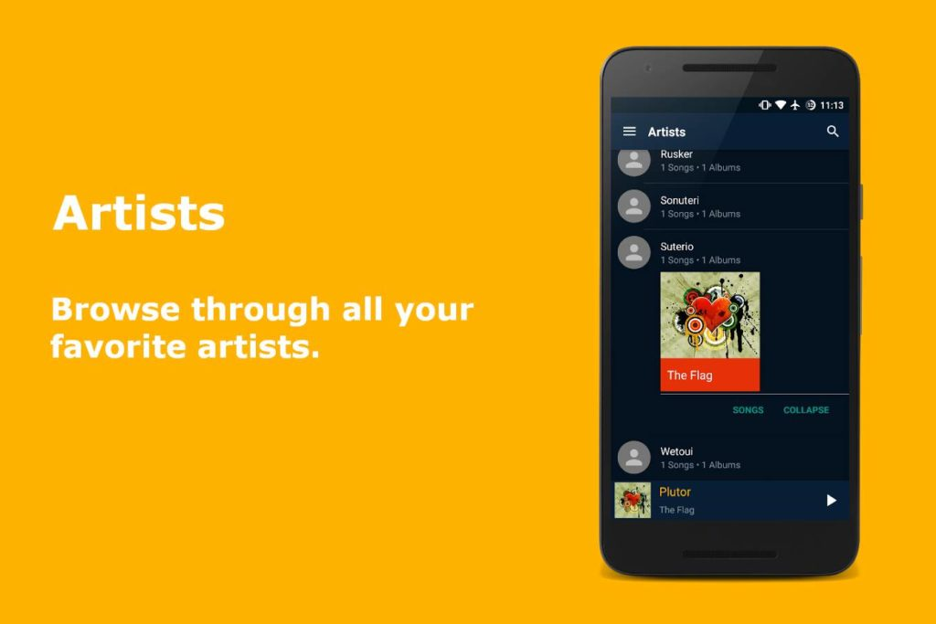 دانلود N Music (Material) 1.0.3 - موزیک پلیر متریال و عالی اندروید!