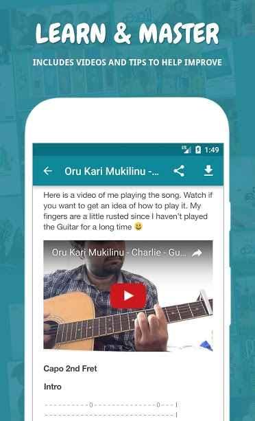 دانلود Naadan Chords Premium 5.3 - برنامه اندروید مجموعه آکورد گیتار