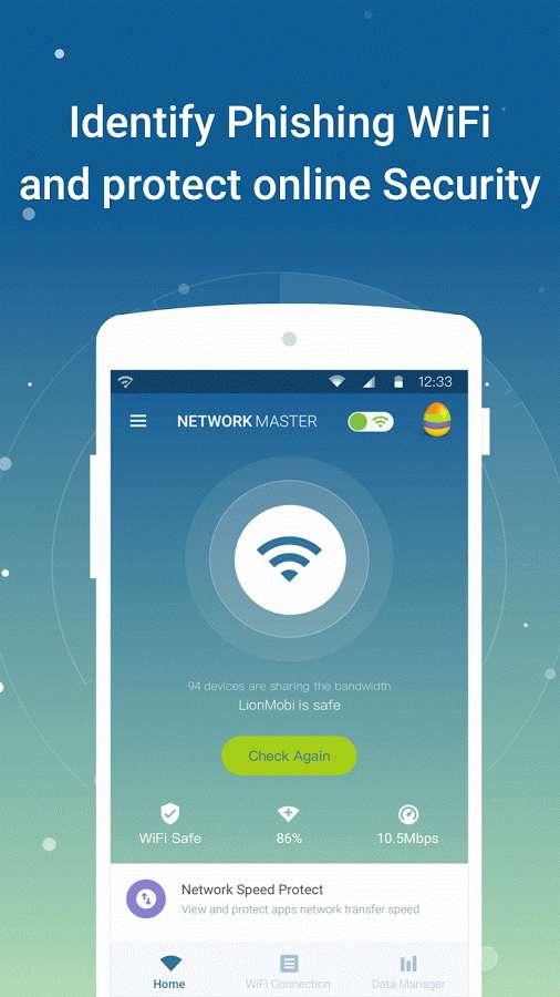 دانلود Network Master - Speed Test VIP 1.9.83 - مجموعه ابزار مدیریت اتصال اینترنت اندروید