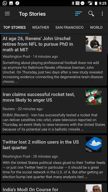 دانلود News Reader Pro 2.6.7 - اپلیکیشن خبری سریع و ساده اندروید !