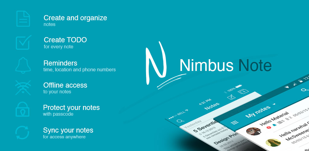 Nimbus Note - Useful notepad and organizer PRO