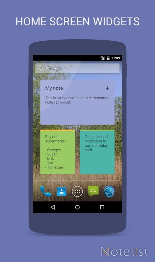 دانلود Note list - Notes & Reminders Pro 4.13 - برنامه یادداشت حرفه ای اندروید