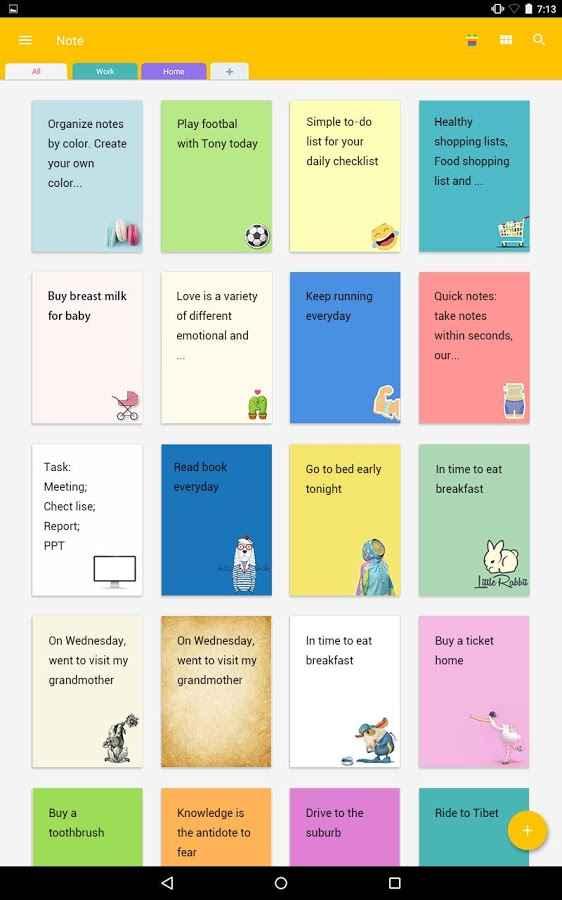دانلود Note: Color Notepad Notes,To Do List,Reminder,Memo Vip 1.5.1 - دفترچه یادداشت رنگی اندروید !