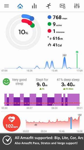 دانلود Notify & Fitness for Amazfit PRO 8.13.0 - مدیریت هوشمندانه ساعت ها آمازفیت اندروید