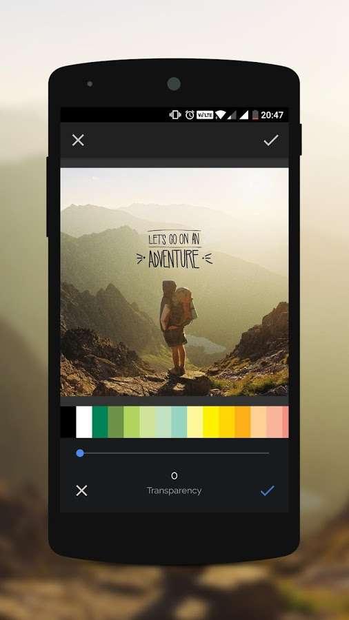 دانلود Overlay Full 1.2.5 - برنامه تایپوگرافی و ویرایش حرفه ای تصاویر اندروید