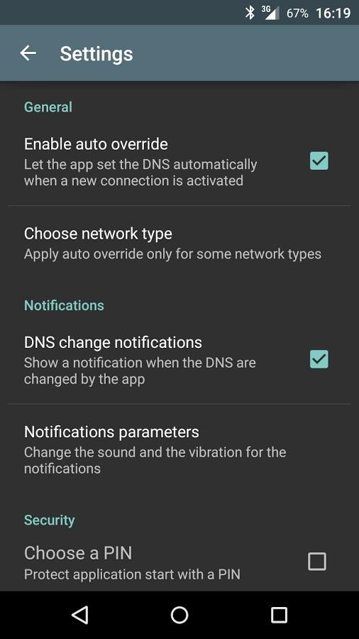 دانلود Override DNS (a DNS changer) 5.3.2 - نرم افزار تغییر دی ان اس اندروید
