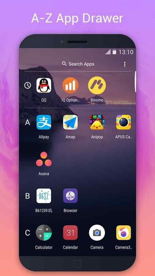 دانلود P Launcher - Pie Launcher, circle theme, icon pack Prime 2.0 - لانچر شبیه ساز اندروید نه !