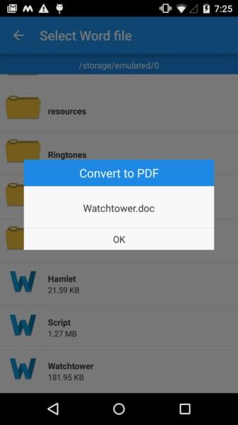 دانلود PDF Converter Doc, Web & Image 1.6 - تبدیل فرمت فایل به PDF در اندروید