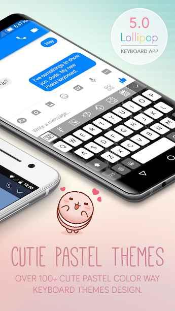 دانلود Pastel Keyboard Theme Color - Add colorful design 1.1.2 - صفحه کلید رنگارنگ و زیبا پاستل مخصوص اندروید !