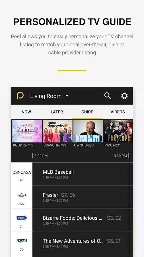 دانلود Peel Universal Smart TV Remote Control Pro 10.5.1.1 - کنترل از راه دور پخش کننده ها اندروید