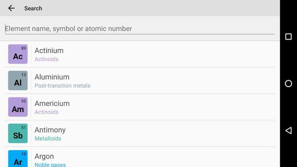 دانلود Periodic Table 2019. Chemistry in your pocket Pro 6.8.0 - بهترین جدول تناوبی عناصر شیمیایی اندروید + پولی