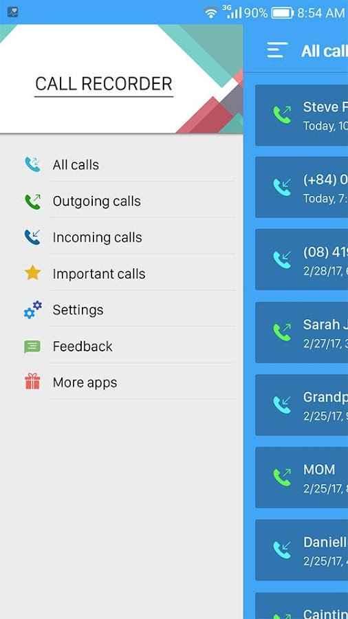 دانلود Photo camera utility Call recorder pro 1.0 - ضبط خودکار با کیفیت تماس ها اندروید