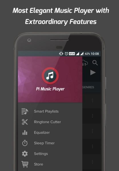 دانلود Pi Music Player FULL 2.6.3 - پلیر گرافیکی و قدرتمند اندروید