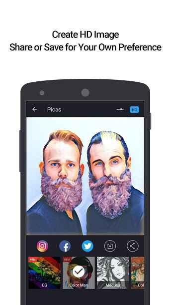 دانلود Picas – Photo Artwork Editor VIP 2.0.3 - برنامه ویرایش هنری تصاویر اندروید !