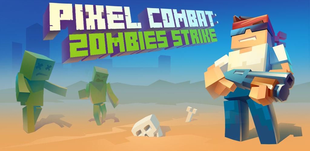 Pixel Combat Zombies Strike Cover دانلود Pixel Combat: Zombies Strike 1.4 – بازی نبرد با زامبی ها آندروید + مود