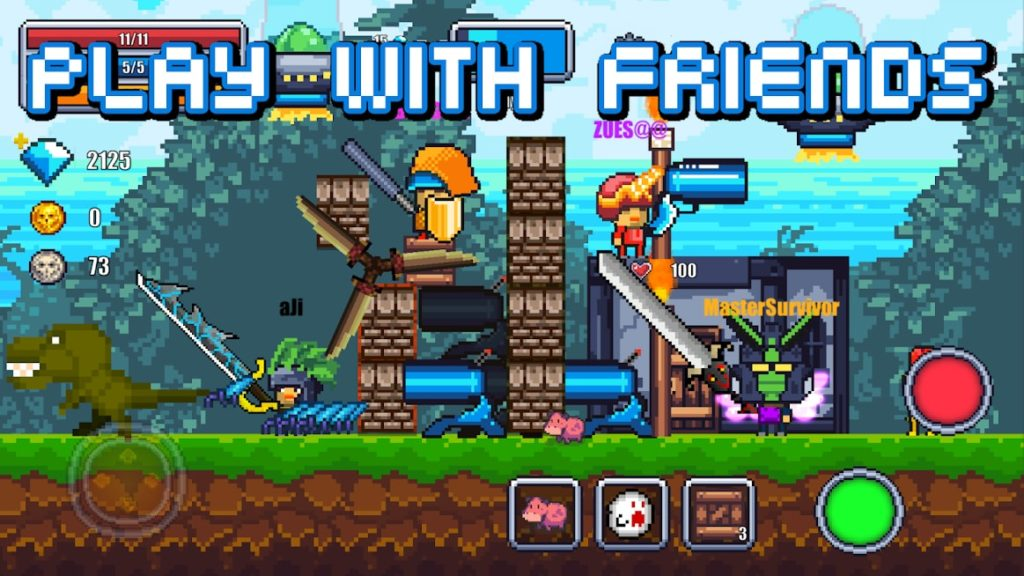 دانلود Pixel Survival World - Online Action Survival Game 92 - بازی اکشن جالب و محبوب