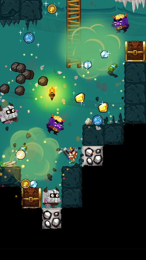 دانلود Pocket Mine 3 5.4.0 - بازی آرکید معدنچی گنج 3 اندروید + مود