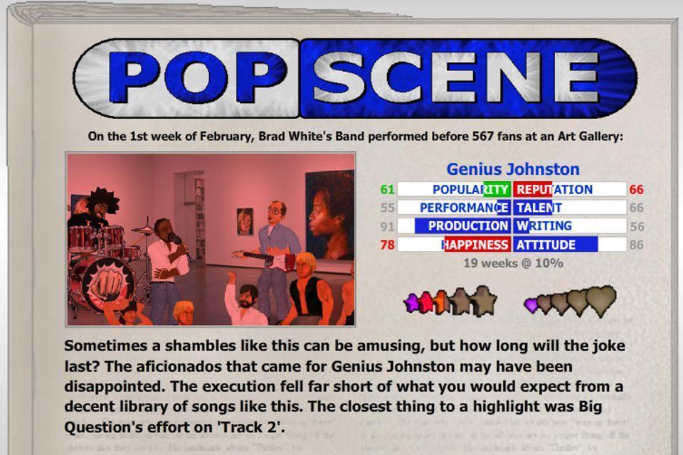 دانلود Popscene (Music Industry Sim) 1.13 - بازی موزیکال فوق العاده اندروید + مود