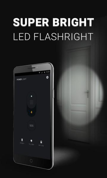 دانلود Power Light - Flashlight LED 1.7.7 - چراغ قوه پر امکانات اندروید