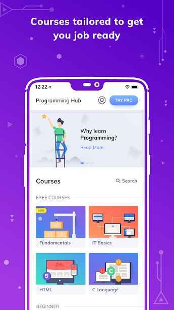 دانلود Programming Hub: Learn to code Full 5.0.14 - مرکز هوشمند یادگیری برنامه نویسی مخصوص اندروید !