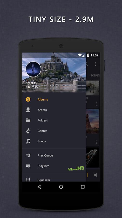 دانلود Pulsar Music Player Pro 1.8.10 - موزیک پلیر ساده و فوق العاده اندروید + مود