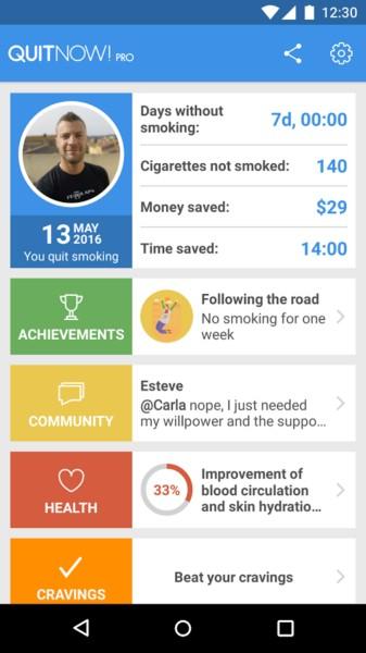 دانلود QuitNow PRO - Stop smoking 5.119.1 - برنامه ترک سیگار اندروید