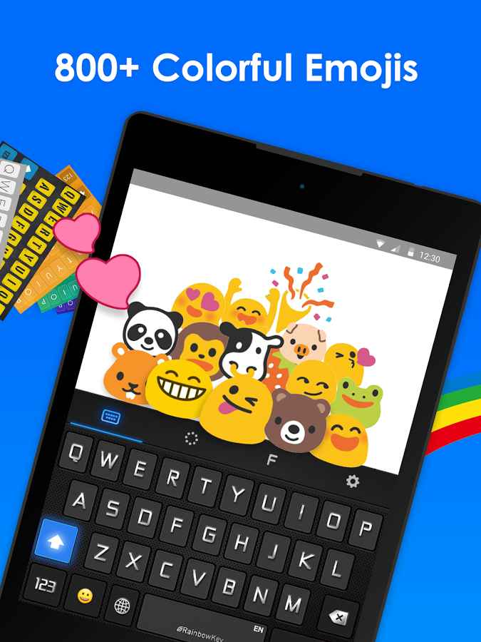 دانلود RainbowKey Keyboard 2.4.1 - کیبورد رنگارنگ و پر امکانات اندروید!
