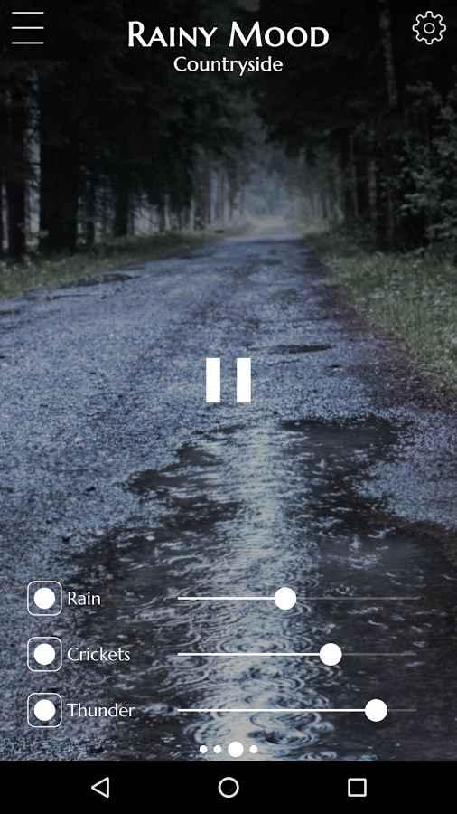 دانلود Rainy Mood 2.5 - برنامه پرطرفدار شبیه ساز صدای باران اندروید !