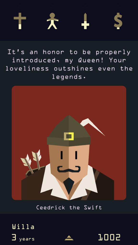 دانلود Reigns: Her Majesty 1 build 25 - بازی کارتی - متن محور خاص