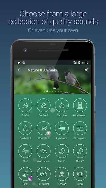 دانلود Relax Sounds Sleep, Meditate, Focus Melodies Premium 1.2.2 - برنامه صدا های آرام بخش و خواب آور اندروید !