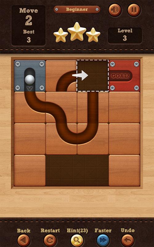 دانلود Roll the Ball - slide puzzle 1.7.64 - بازی پازل اعتیاداور