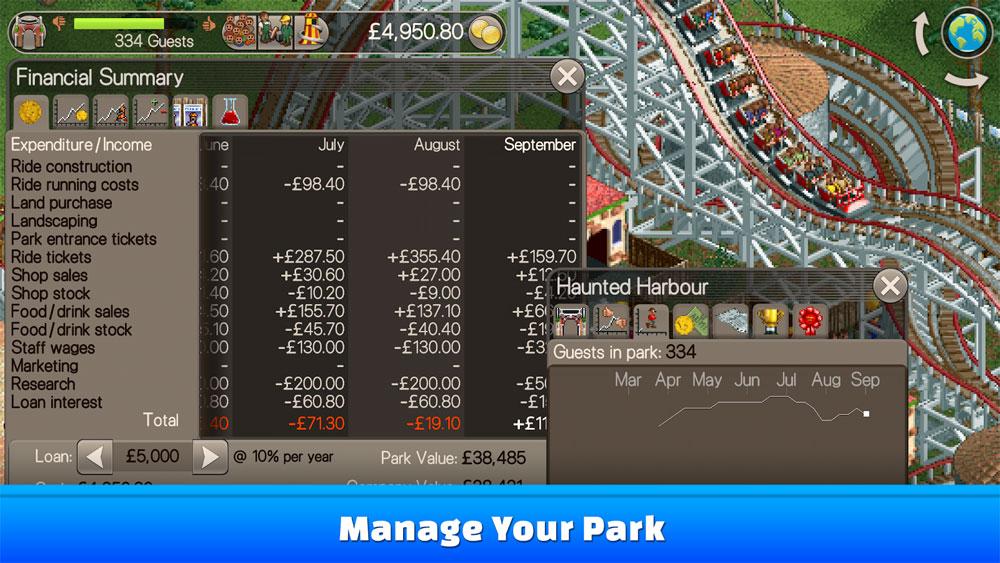 دانلود RollerCoaster Tycoon Classic 1.2.1.1712080 - بازی ساخت پارک اندروید + مود + دیتا