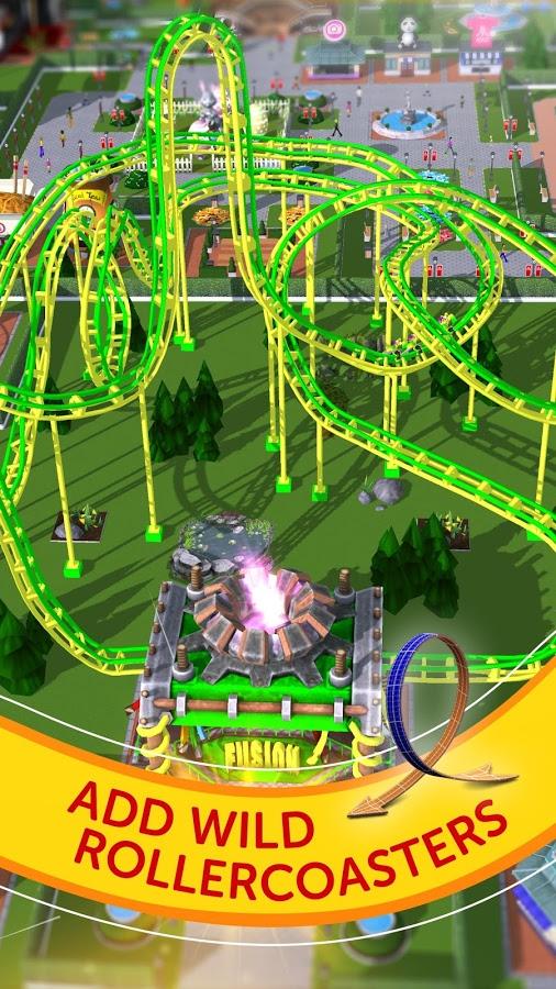 دانلود RollerCoaster Tycoon Touch 1.15.8 - شبیه ساز پارک بازی اندروید + مود + دیتا