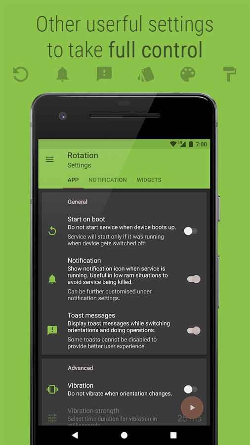 دانلود Rotation - Orientation Manager Full 8.9.5 - برنامه مدیریت حالت صفحه نمایش اندروید