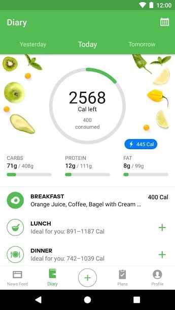 دانلود Runtastic Balance Food Tracker & Calorie Counter Full 1.30 - دفترچه یادداشت غذایی و کالری شمار اندروید !